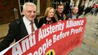 The recently united Anti-Austerity Alliance-People Before Profit grouping is split on whether its voters should transfer to Sinn Féin. Photograph: Cyril Byrne/The Irish Times.