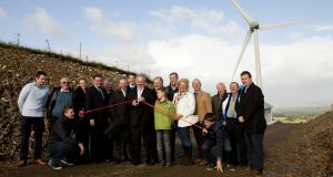 Community spirit: Pat Rabbitte opens Templederry Wind Farm in 2013