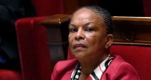 French justice minister Christiane Taubira resigned and will be replaced by Jean-Jacques Urvoas. Photograph: Loic Venance/AFP/Getty Images
