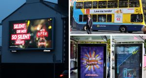 Out-of-home ads for Diageo vodka brand Smirnoff, McDonald's, Eir and Mondelez-owned Cadbury. Montage: PML Group