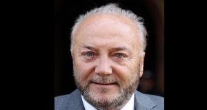 George Galloway: Action consequential of remarks at a loyalist protest. The material allegedly broadcast on YouTube, which is owned by Google, was said to have been viewed more than 17,000 times. Photograph: PA