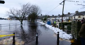 Floods at Wolfe Tone Terrace in Athlone. File photograph: Bryan O'Brien/The Irish Times