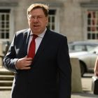 Brian Cowen, former taoiseach, prior to his appearance before the banking inquiry. File  photograph: Cyril Byrne/The Irish Times