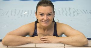 Irish Times swimmer Rachel Collins: Backstroke  is my least favourite stroke – I've yet to finish a length without giving myself a good sinus-rinsing.  Photograph: Dara Mac Donaill