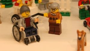 Lego confirmed that the wheelchair would form part of a set – including an ice-cream vendor, cyclist and picnickers in a park – will go on sale in June.
