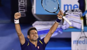 Novak Djokovic raced out of the blocks to beat Roger Federer in the Australian Open semi-final. Photograph: Reuters