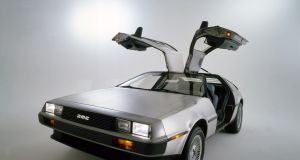 The DeLorean DMC-12.