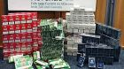 An array of illegal branded cigarettes and tobacco seized in the State in the past week. Photograph: Revenue
