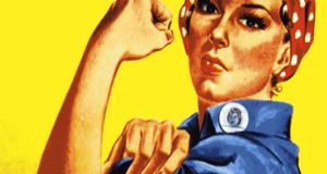 I'm not sure what Rosie the Riveter is planning to do with her fist, but Ecocem's executives should probably stay out of her way