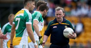 "Pat Flanagan: determined to lead his native Offaly to higher ground: ""I've always said Offaly have serious potential.""  Photograph: Dan Sheridan/Inpho"