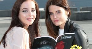Actresses Kelly Thornton and Nika McGuigan at the Programme launch for The Audi Dublin International Film Festival. Photograph: Brian McEvoy