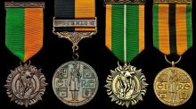 Medals belonging to  Bridget Connolly, who served in the 1916 Rising and War of Independence, which sold at auction for $7,250 in New York on Thursday