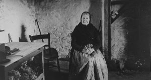 """We can't blame Peig Sayers anymore."" Picture of Blasket Island storyteller, Peig Sayers. Photograph:UCD department of Irish folklore"