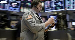 Stocks were on track to open lower on new expectations for interest rates. Photograph: Reuters