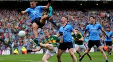 Kerry's Colm Cooper with James McCarthy and Philly McMahon of Dublin during last September's All-Ireland final. Photograph: Ryan Byrne/Inpho