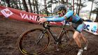 Belgian rider  Femke Van Den Driessche in action during  the women's under-23 race at the world cyclo-cross championship in Heusden-Zolder, Belgium. Photograph: AFP/Getty Images