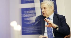 George Soros: famously broke the Bank of England.  Photograph: Matthew Lloyd/Bloomberg