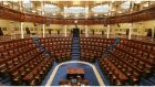 Empty seats . . . but the Oireachtas has been busy, passing 253 Acts during this Government's five-year term. Photograph: Alan Betson
