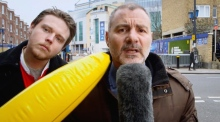 Deadline day bananas: reporter reacts to prank on live TV