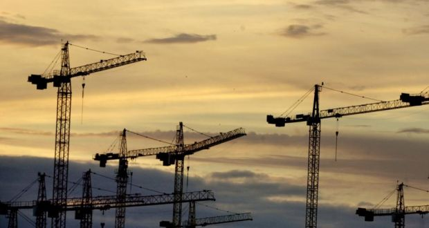 Cranes: an increasingly familiar sight on Dublin's skyline. Photograph: Dara MacDónaill