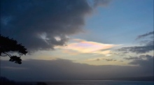 Beautiful and rare: timelapse of nacreous clouds over Donegal