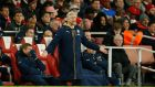Arsene Wenger is reported to have argued with Ronald Koeman after Arsenal's goalless draw with Southampton. Photograph: Reuters