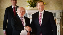 Taoiseach informs the President of the dissolution of the Dail