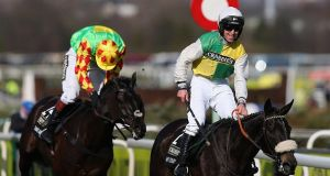 2015 Grand National winner Many Clouds has been entered again for this year's race. Photograph: Getty