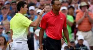 Rory McIlroy has said he would love to see Tiger Woods return to fitness and compete at the top once again. Photograph: Getty