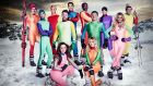The contestants on The Jump 2016. Photograph:  Channel 4
