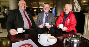 Kevin Molloy, John Walsh and Mai Quaid at the Earn Our Vote launch; they hope older voters' concerns will be on the agenda. Photograph: Leon Farrell/Photocall Ireland