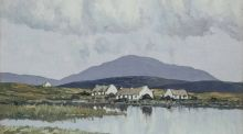 A Connemara Village was first exhibited by the Fine Art Society, New Bond Street, London, in April 1934 and then, in November 1937, at Combridge's Gallery in Dublin where former taoiseach John A Costello is understood to have bought it for £85.