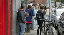 The data show there were 4,800 fewer people on the register in January, reducing the overall total to 323,200