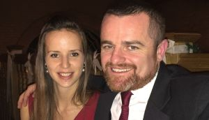 Since leaving Ireland 14 years ago, Aonghus Kelly (pictured above with his girlfriend) has lived in New Zealand, Bosnia, and the UK, working as a prosecution lawyer on war crimes, organised crimes and terrorism cases.