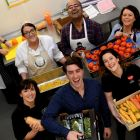 Ali Mitter, Shane Bonner and Katrina Crawford; behind, Clare Wilkinson Naveen Bachani, and Mari Donelan at Newmarket Kitchen at Bray Business Park . Photograph: Cyril Byrne