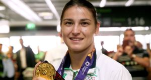Boxer Katie Taylor: Olympic champion is due to address the I Wish conference in Cork, which aims to encourage more women to consider careers in science, technology, engineering and maths. Photograph:  Brian Lawless/PA Wire