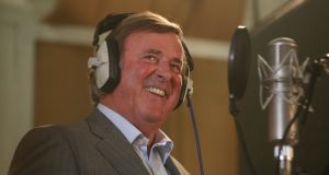 Terry Wogan on air: Gay Byrne, Brendan Balfe and Mike Murphy paid tribute to him on Sunday With Miriam (RTÉ Radio 1). Photograph: Katie Collins/PA