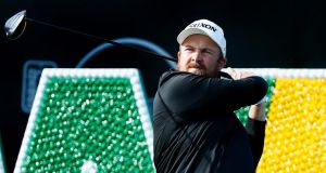 Shane Lowry  tees off on the 17th hole during the first round of the Waste Management Phoenix Open at TPC Scottsdale. Photograph: Scott Halleran/Getty Images