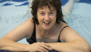 Irish Times swimmer Orna Mulcahy is finding ways to cope with the boredom of countless lengths. Photograph: Dara Mac Dónaill
