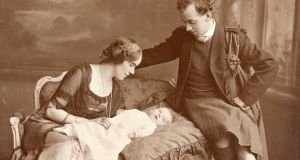From the National Library of Ireland: digitised letters of the signatories to the Proclamation of the Irish Republic. Photograph of Thomas and Muriel MacDonagh with their son Donagh