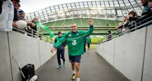 Simon Zebo starts ahead of the injured Rob Kearney in Ireland's Six Nations opener. Photograph: Inpho