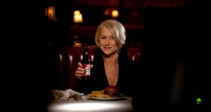 Helen Mirren delivers a lecture about drunk driving and why it's a terrible idea, in a scene from a Budweiser spot for Super Bowl 50.