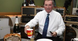 Terry Wogan during his final breakfast show on BBC Radio 2. Photograph: BBC