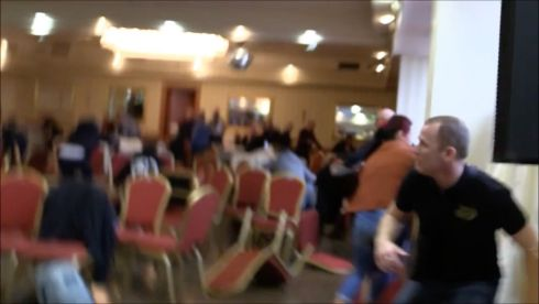 Screengrab of the inside  of the Regency Airport Hotel in Dublin as a shooting incident takes place. Photograph: Storyful