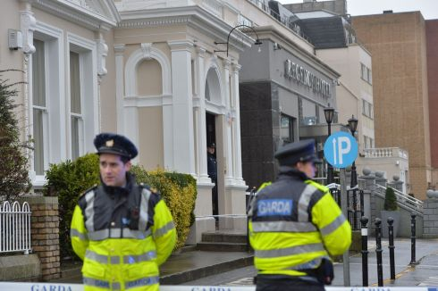 Gardai outside the Regency Airport Hotel after a shooting. Photograph: Alan Betson/The Irish Times