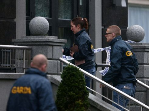 Gardai investigate the fatal shooting at the Regency Airport Hotel. Photograph: Colin Keegan/Collins Dublin