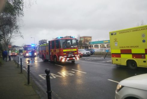 Emergency services outside the Regency Hotel in Dublin as one man died and two others were injured following a shooting incident at the hotel. Photograph: Marty Curran/PA Wire