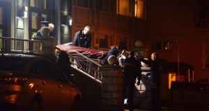 A body is removed from the Regency Airport Hotel in Dublin after a shooting on Friday, February 5th, 2016. Photograph: Cyril Byrne/The Irish Times