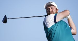 Shane Lowry is three shots off the lead after the second round of the Phoenix Open. Photograph: Getty