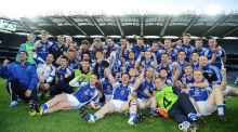 Templenoe celebrate after their All-Ireland junior club football final win. Photograph: Inpho